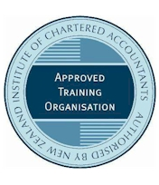 The round Approved_Training_Organisation_logo in blue background